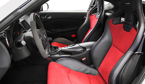 Black/Red Leather/Alcantara