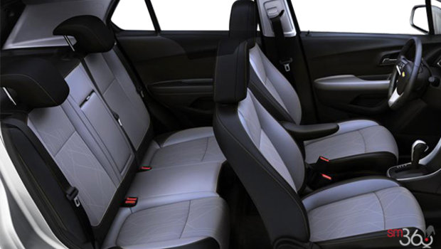 Jet Black/Light Ash Grey Bucket seat Deluxe Cloth/Leatherette (AET-AR9)