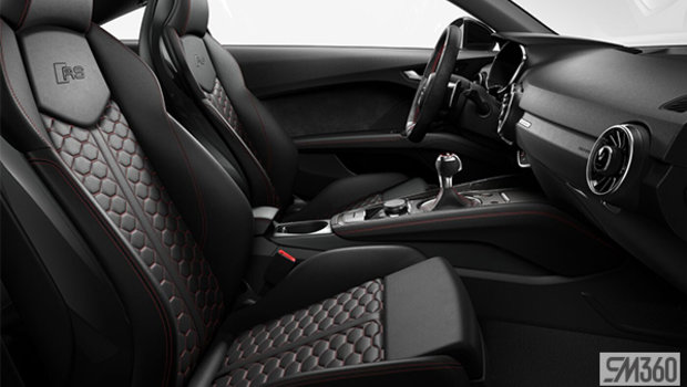 Black fine nappa leather seats with Express Red Honeycomb stitch