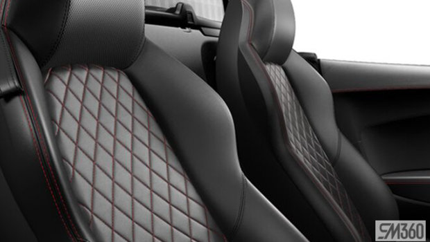 Black/Express Red Contrast Stitching Nappa Leather Sport Seats