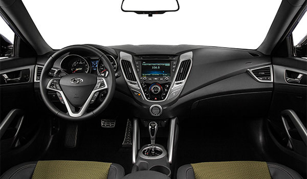 2016 Hyundai Veloster TECH | Photo 3 | Black Cloth/Leatherette w/Yellow Accents