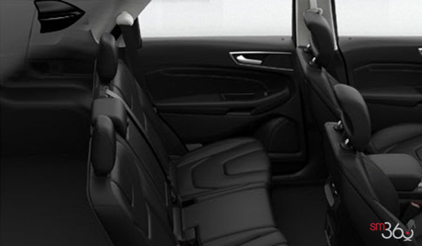 2017 Ford Edge TITANIUM | Photo 2 | Ebony Leather with Perforated Sueded Cloth Inserts