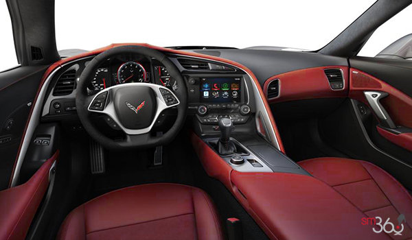 2018 Chevrolet Corvette Convertible Stingray Z51 2LT | Photo 2 | Adrenaline Red Competition Sport buckets Leather seating surfaces with sueded microfiber inserts (704-AE4)