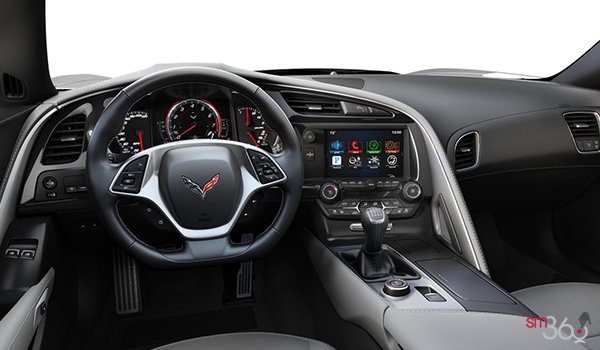 2018 Chevrolet Corvette Coupe Grand Sport 2LT | Photo 2 | Grey Competition Sport buckets Leather seating surfaces with sueded microfiber inserts (144-AE4)