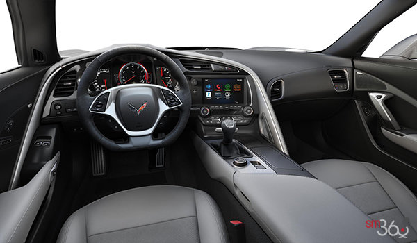 2018 Chevrolet Corvette Coupe Grand Sport 2LT | Photo 3 | Grey Competition Sport buckets Leather seating surfaces with sueded microfiber inserts (144-AE4)