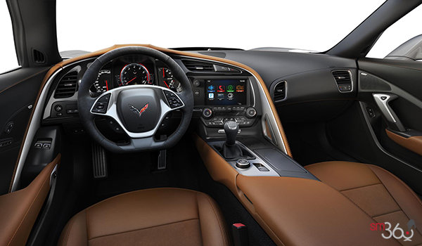 2018 Chevrolet Corvette Coupe Grand Sport 2LT | Photo 3 | Kalahari Competition Sport buckets Leather seating surfaces with sueded microfiber inserts (344-AE4)