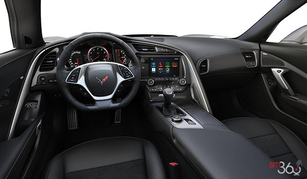 2018 Chevrolet Corvette Coupe Grand Sport 2LT | Photo 3 | Jet Black Competition Sport buckets Leather seating surfaces with sueded microfiber inserts (194-AE4)