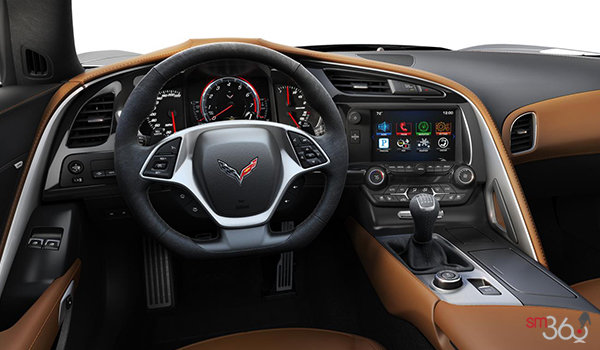 2018 Chevrolet Corvette Coupe Grand Sport 3LT | Photo 2 | Kalahari Competition Sport buckets Leather seating surfaces with sueded microfiber inserts (346-AE4)