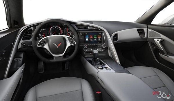 2018 Chevrolet Corvette Coupe Stingray Z51 2LT | Photo 2 | Grey Competition Sport buckets Leather seating surfaces with sueded microfiber inserts (144-AE4)