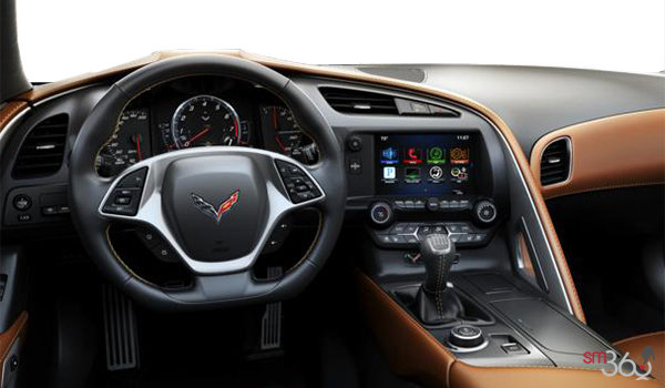 2018 Chevrolet Corvette Coupe Stingray Z51 3LT | Photo 3 | Kalahari GT buckets Perforated Napa leather seating surfaces (345-AQ9)