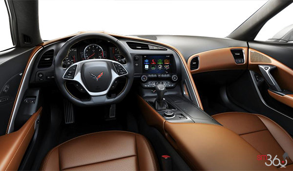 2018 Chevrolet Corvette Coupe Stingray Z51 3LT | Photo 2 | Kalahari GT buckets Perforated Napa leather seating surfaces (345-AQ9)