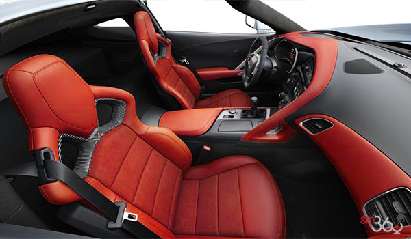 2018 Chevrolet Corvette Coupe Stingray Z51 3LT | Photo 1 | Adrenaline Red Competition Sport buckets Leather seating surfaces with sueded microfiber inserts (706-AE4)