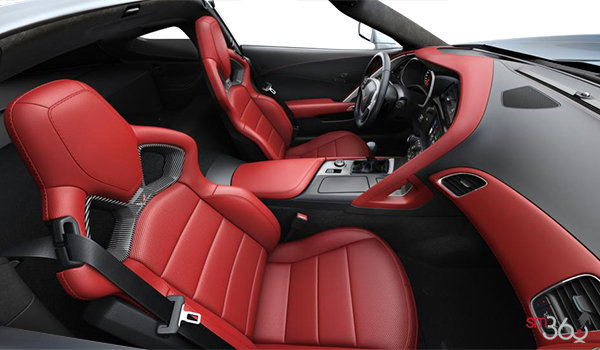 2018 Chevrolet Corvette Coupe Stingray Z51 3LT | Photo 1 | Adrenaline Red Competition Sport buckets Perforated Mulan leather seating surfaces (705-AE4)