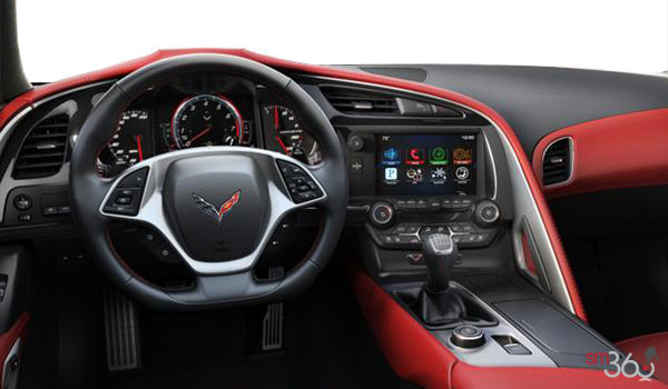 2018 Chevrolet Corvette Coupe Stingray Z51 3LT | Photo 3 | Adrenaline Red Competition Sport buckets Perforated Mulan leather seating surfaces (705-AE4)