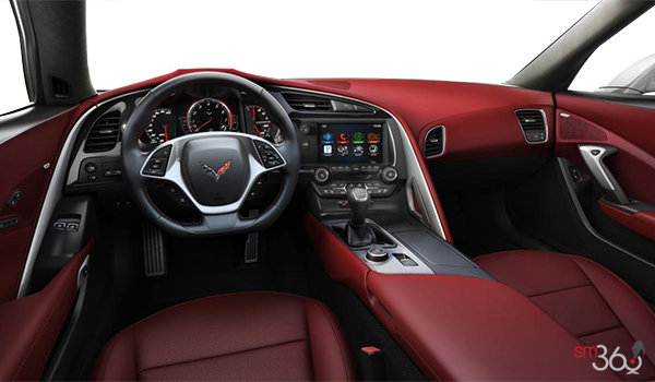 2018 Chevrolet Corvette Coupe Stingray Z51 3LT | Photo 2 | Spice Red Competition Sport buckets Perforated Mulan leather seating surfaces (755-AE4)