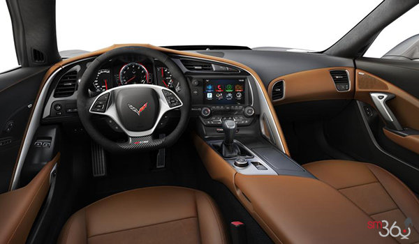 2018 Chevrolet Corvette Coupe Z06 3LZ | Photo 3 | Kalahari Competition Sport buckets Leather seating surfaces with sueded microfiber inserts (346-AE4)