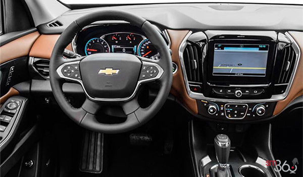 2018 Chevrolet Traverse HIGH COUNTRY | Photo 3 | Jet black/loft brown perforated leather