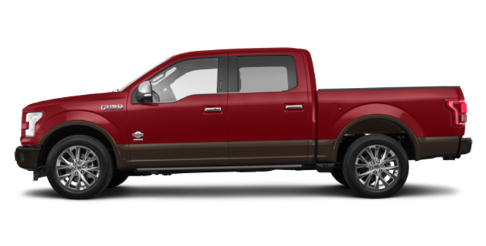 2017 Ford F-150 KING RANCH | Photo 4 | Ruby Red Metallic/Caribou