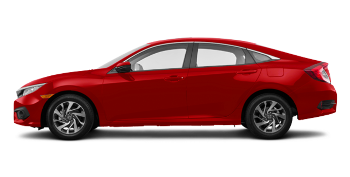 2017 Honda Civic Sedan EX | Photo 4 | Rallye Red