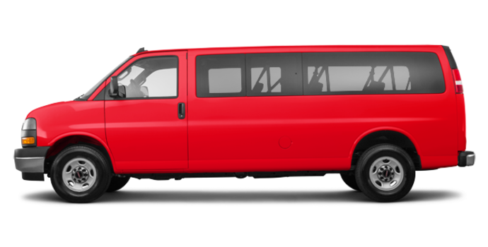 2018 GMC Savana 3500 PASSENGER LT | Photo 4 | Cardinal Red
