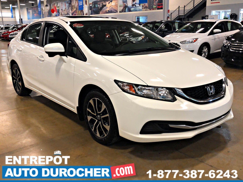 2015 CAMÉRA DE RECUL Honda Civic Sedan EX Automatique - A/C - TOIT OUVRANT