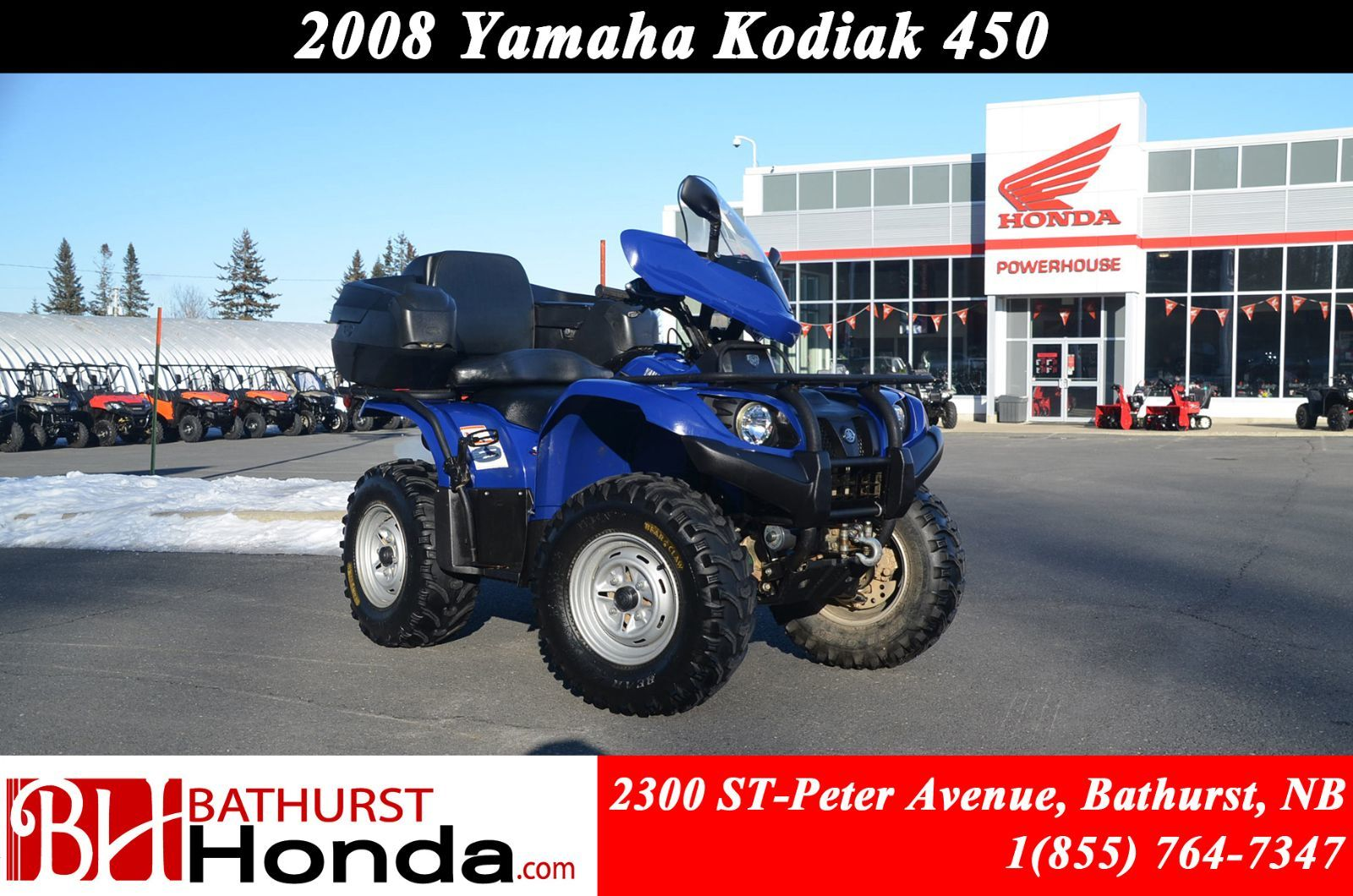 Used 2008 Yamaha Kodiak 450 Independant Rear Suspension On Command Winch Wiring Diagram 4wd In Bathurst Inventory Honda New Brunswick