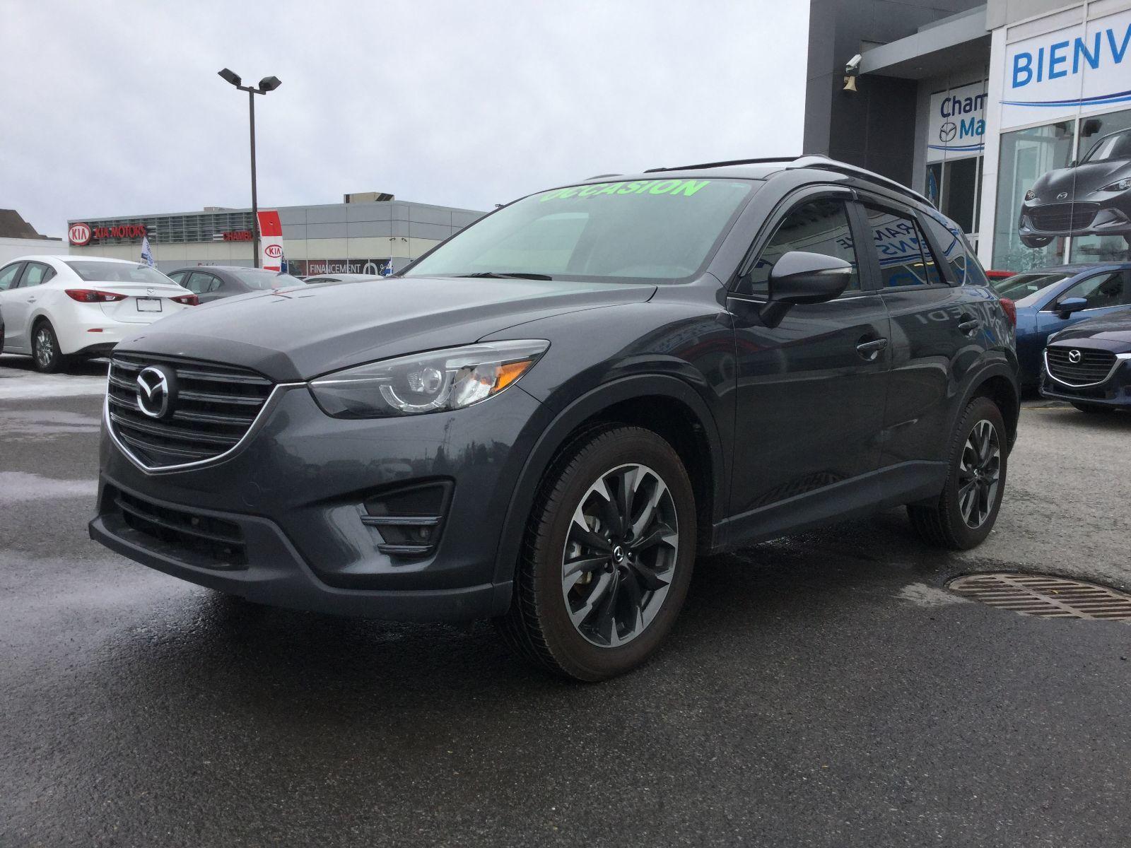 Mazda CX-5 **RÉSERVÉ**, GT, AWD, A/C BIZONE, CUIR, NAVIGATEUR 2016 JAMAIS ACCIDENTÉ