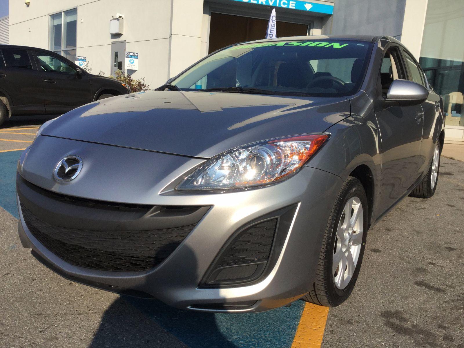 Mazda Mazda3 GX,  JAMAIS ACCIDENTÉ, UN SEUL PROPRIÉTAIRE 2011 SEULEMENT 72000 km,MANUEL, AC, GROUPE ÉLECTRIQUE