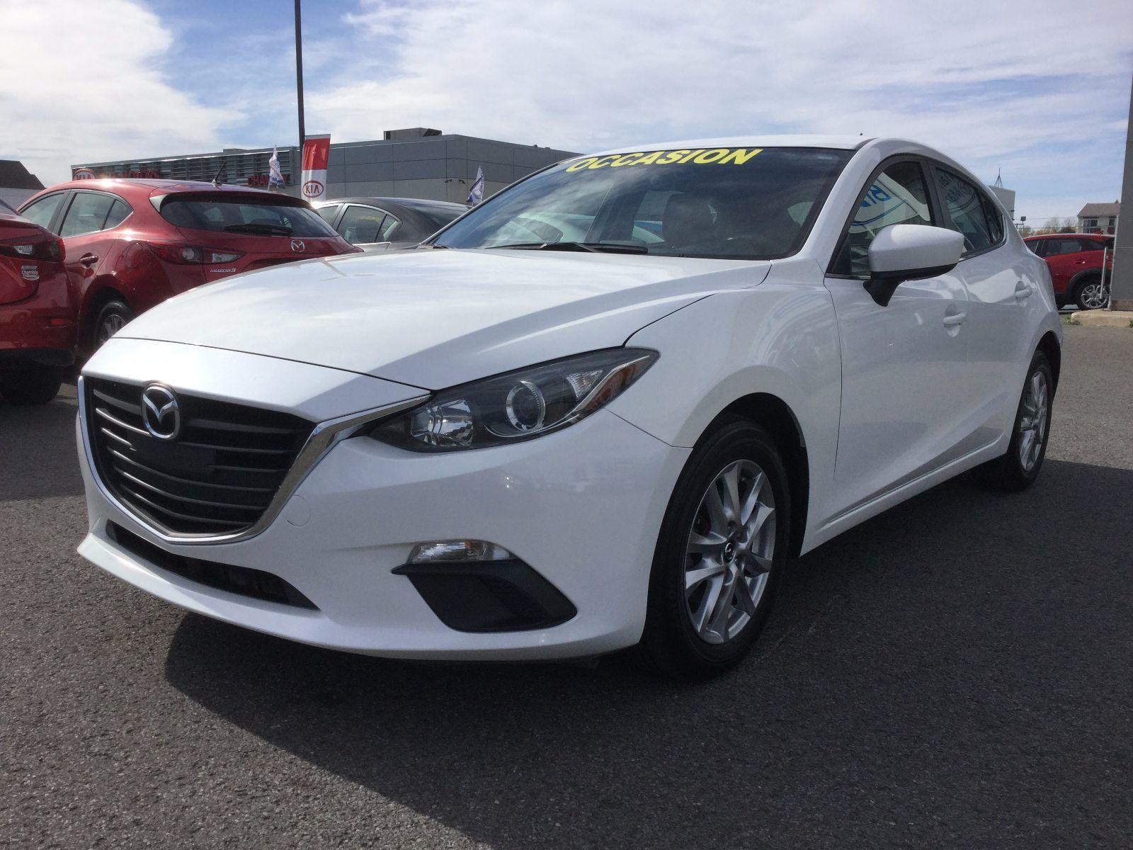 Mazda Mazda3 **RÉSERVÉ**,GS, BAS KILOMÉTRAGE, SIÈGES CHAUFFANTS 2015 GARANTIE COMPLÈTE JUSQU'EN MARS 2018