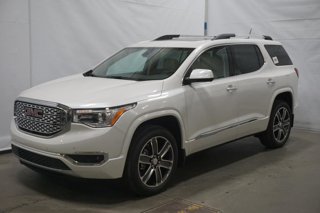 new 2018 gmc acadia denali awd white frost tricoat. Black Bedroom Furniture Sets. Home Design Ideas