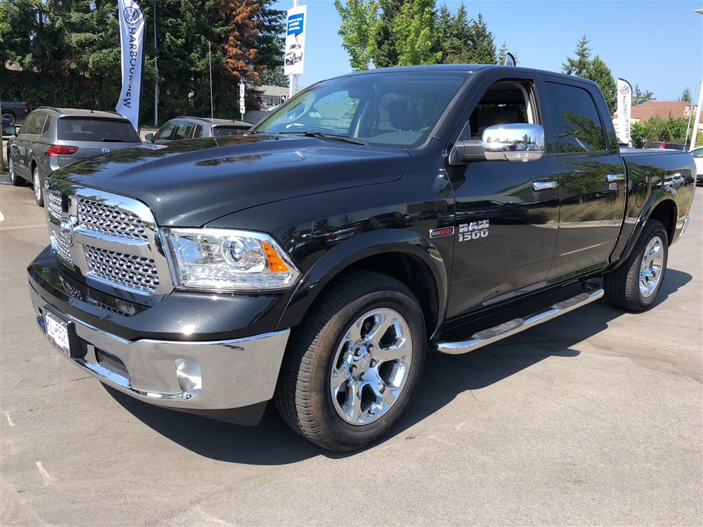 Used Ram 1500 >> Used 2018 Ram 1500 Laramie EcoDiesel Crew Cab 4x4 for Sale - $52995 | Harbourview VW