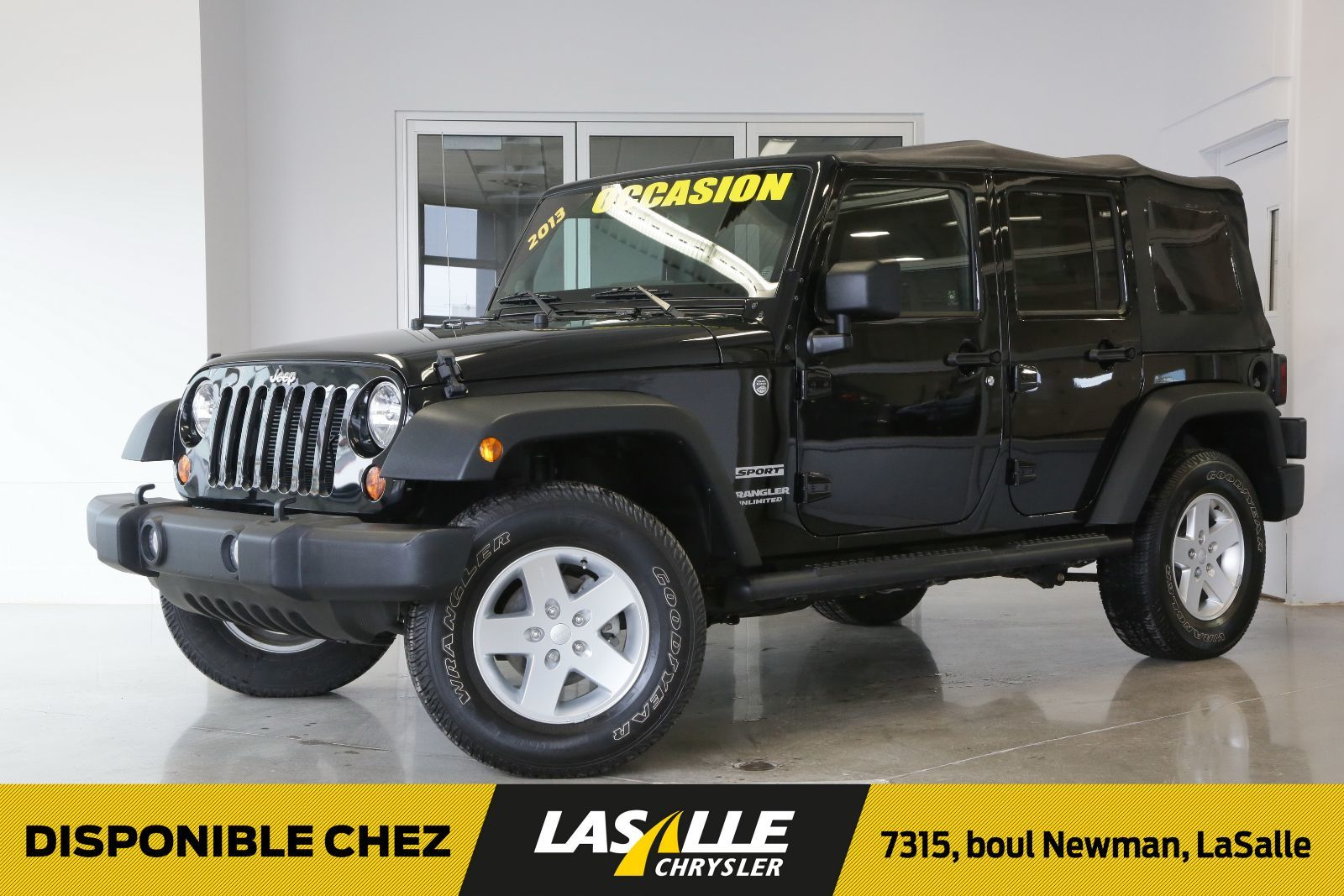 used 2013 jeep wrangler unlimited sport 2 toit for sale in montreal lasalle ford. Black Bedroom Furniture Sets. Home Design Ideas