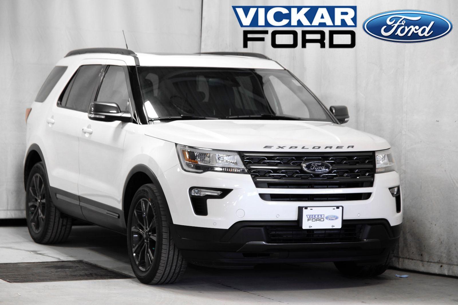 New 2018 Ford Explorer XLT White Platinum Metallic Tri-Coat for sale -  $46838.0 | #18T9426 | Vickar Ford | Winnipeg