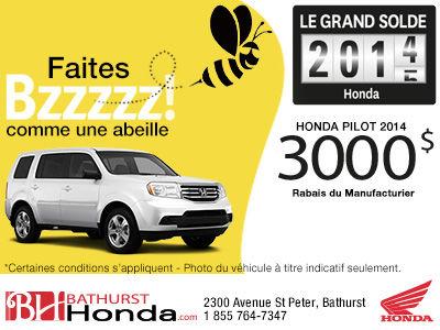 Obtenez un rabais de 3000$ sur le modèle Honda Pilot 2014