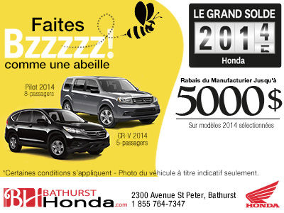 Le grand solde Honda 2014-15