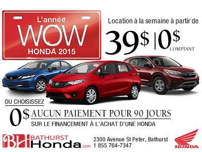 L'année WOW Honda 2015