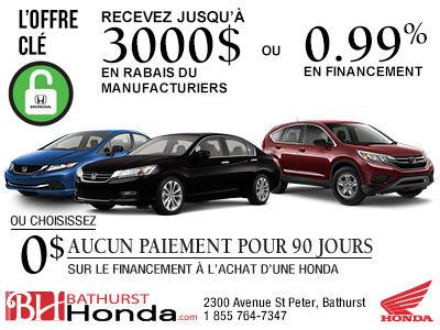 L'offre clé Honda 2015