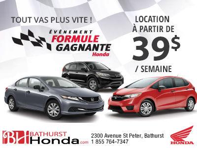 L'événement formule gagnante de Honda