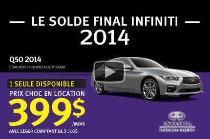 La toute nouvelle Infiniti Q50 2014 à partir de seulement 399$ PAR MOIS