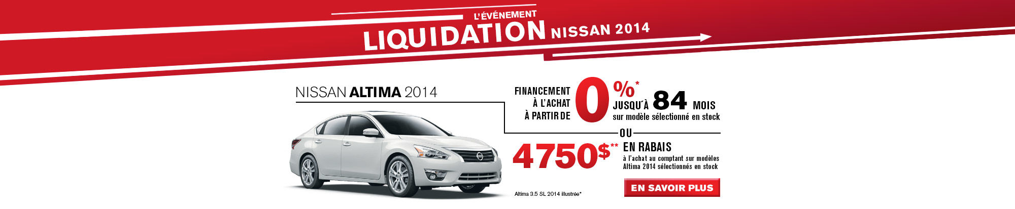 LIQUIDATION NISSAN 2014