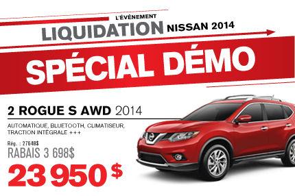 La Nissan ROGUE 2014 démos à seulement 23 950$!
