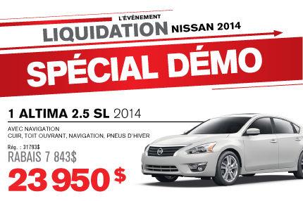 La Nissan ALTIMA 2014 à vous pour seulement 23 950$