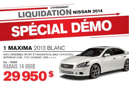 La Nissan Maxima démo 2013, nos dernières. À vous pour 29 950$