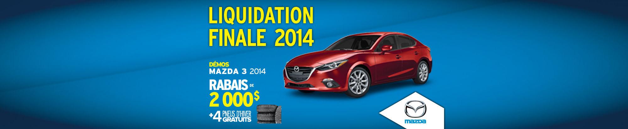 Mazda3 2014 liquidation