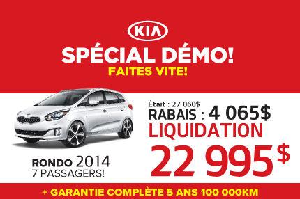 Liquidation du Kia Rondo LX 2014 démo à 22 995$