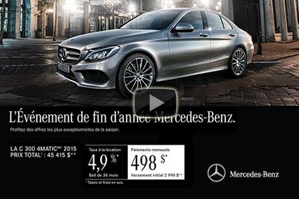 Classe C 300 de Mercedes-Ben: paiements mensuels de 498$