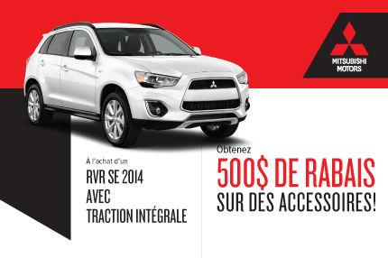 Mitsubishi RVR 2014: rabais de 500$ sur des accessoires