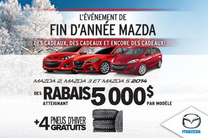 5000$ de rabais sur nos derniers Mazda 2014