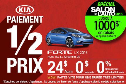 Achetez la nouvelle Kia Forte 2015 à compter de 24$ par semaine