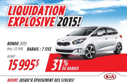 Le Kia Rondo 2015 à 15 995$